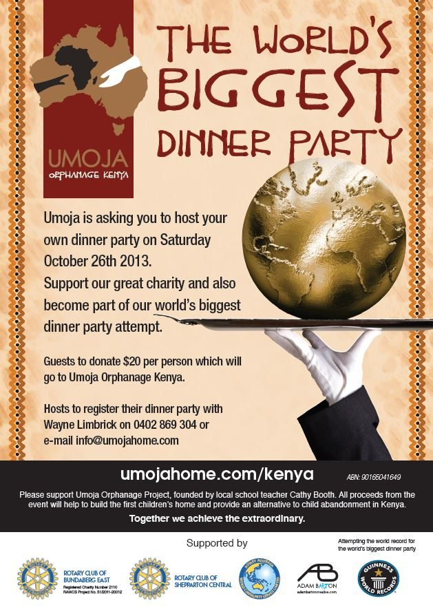 World S Biggest Dinner Party 171 Umoja Home